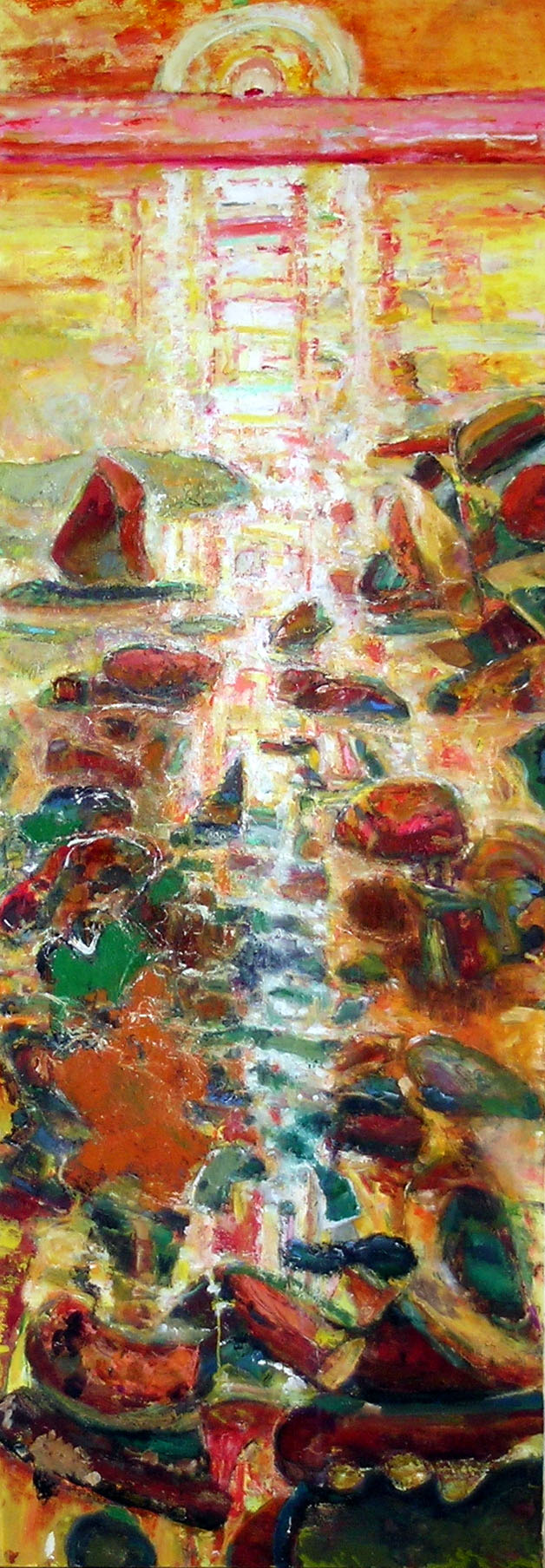 Broken Light, 2001 - 05 oil on canvas, 84 x 30 inches