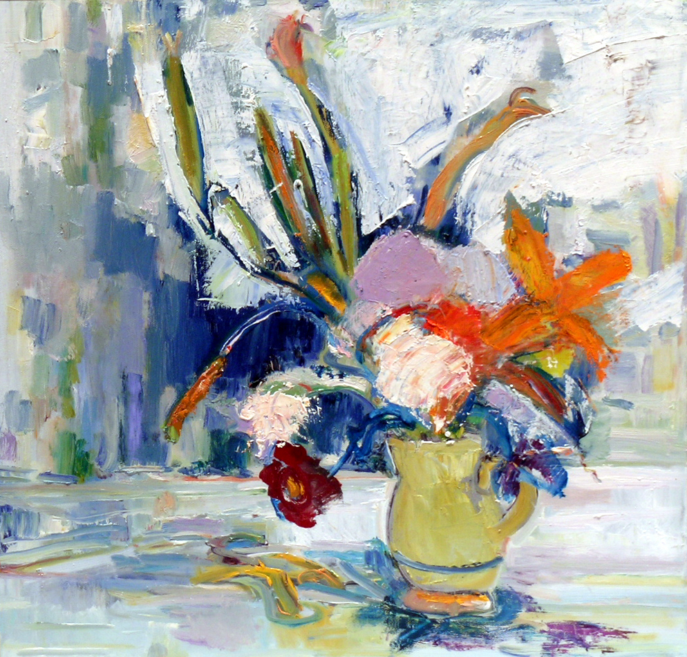 Flowers Against the Light, 2000 oil on canvas, 18 x 18 inches