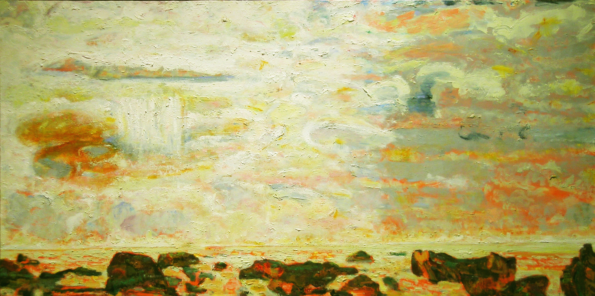 Islands, 2007 oil on canvas, 24 x 48 inches