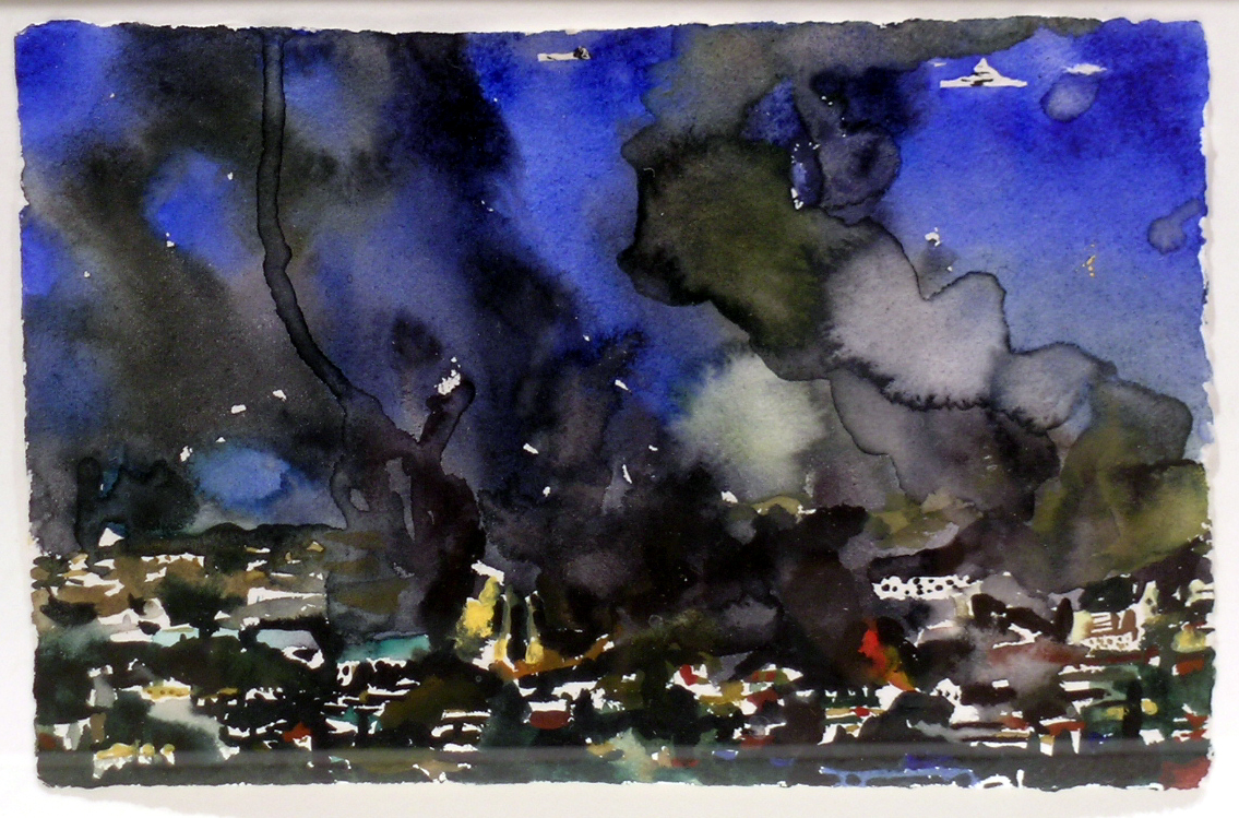 Untitled,  2004 watercolor on hand-made paper, 7 x 10 inches