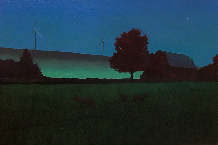 Wiscoy Fog, 2010 oil on canvas, 21 x 31 1/2 inches