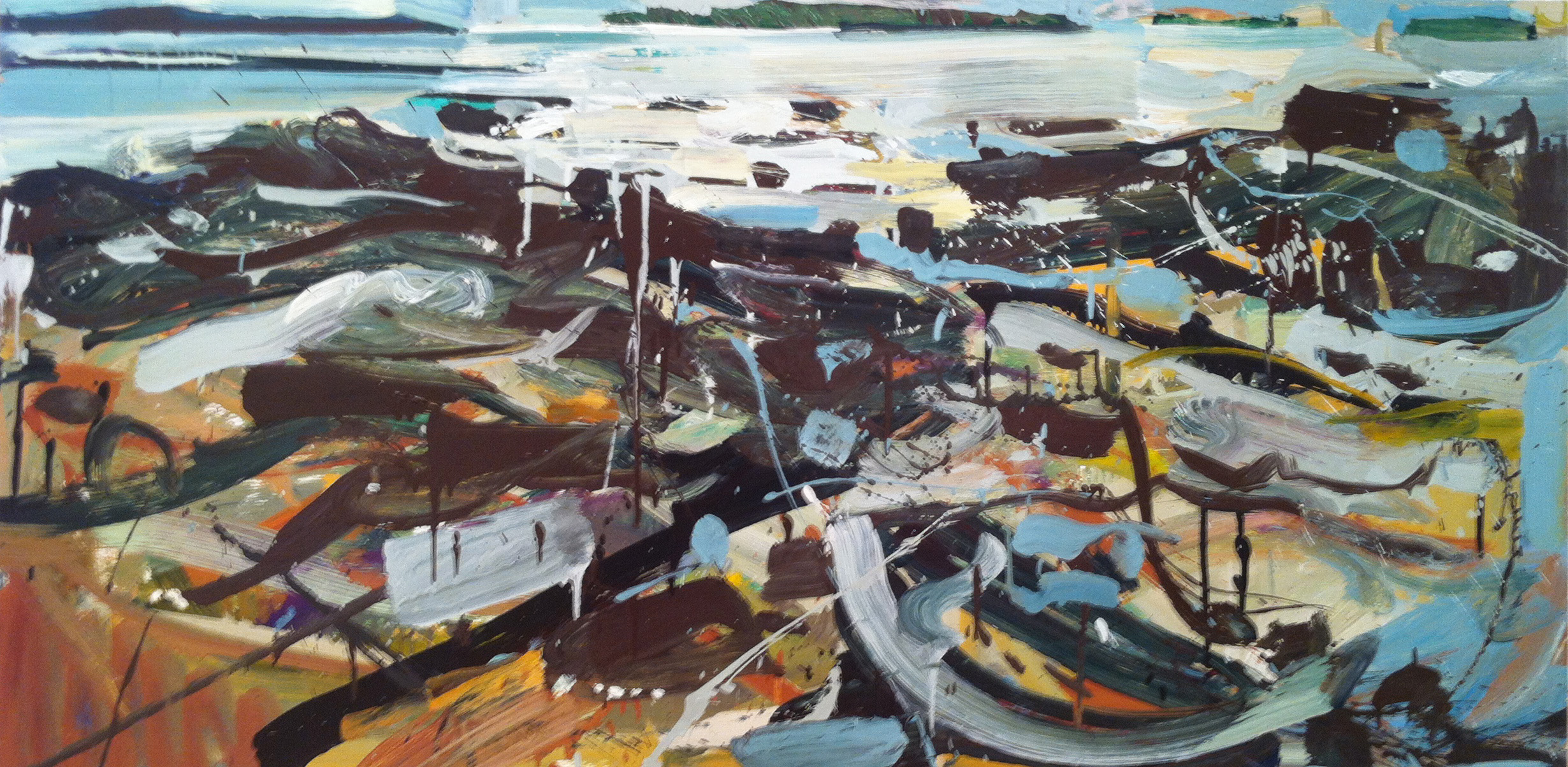 Low Tide, 2012 oil on panel, 24 x 48 inches