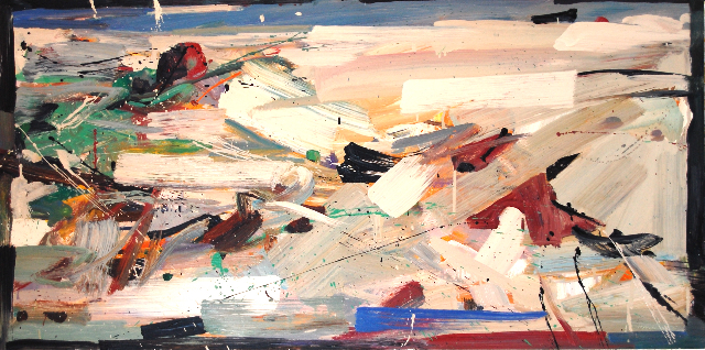 The Rock, 2010 oil on panel, 24 x 48 inches