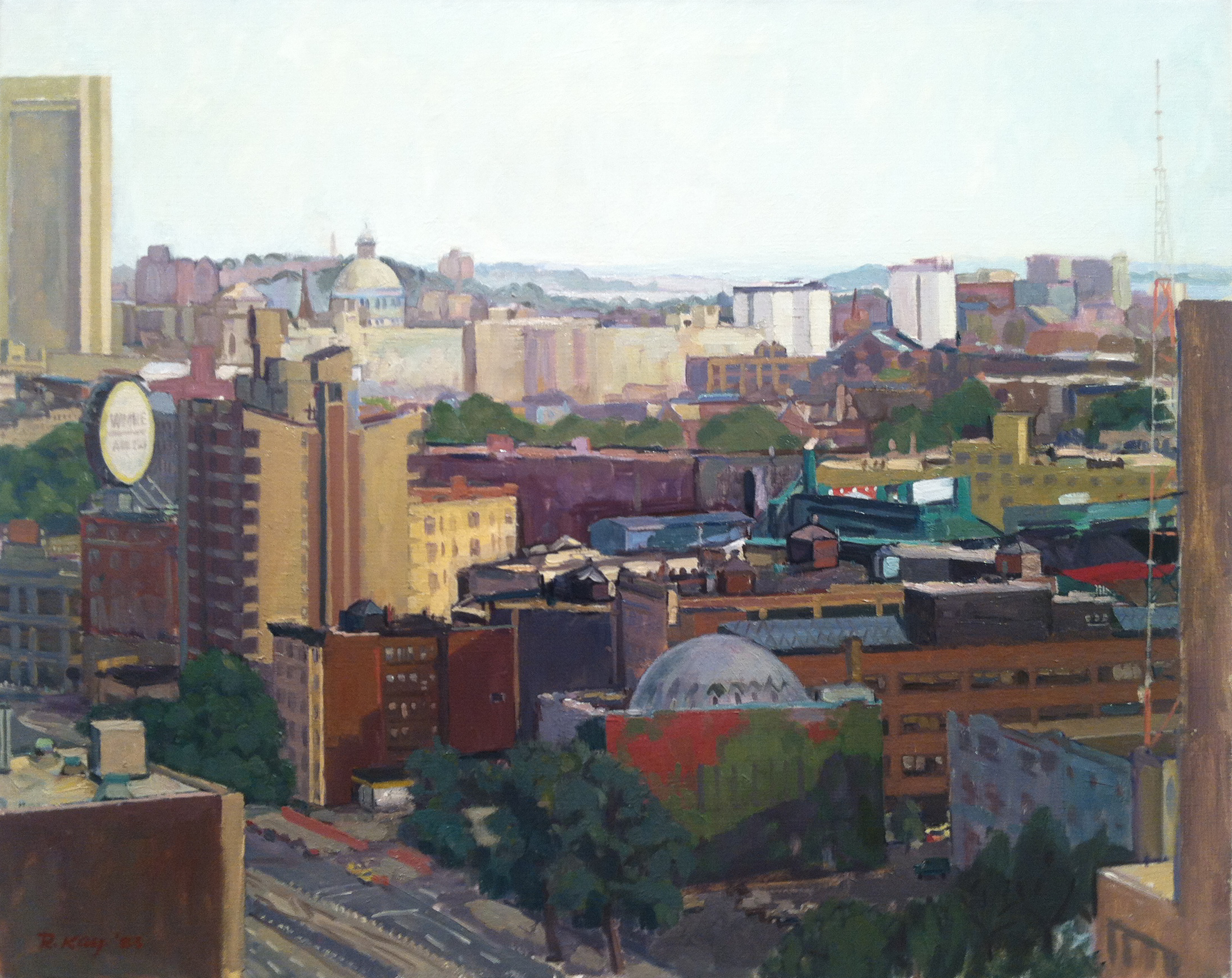 Boston Tower and Dome,  1983 oil on canvas, 24 x 30 inches