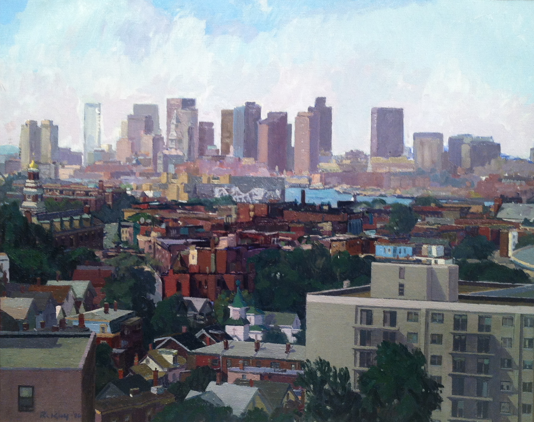 Chelsea View, 1986 oil on canvas, 24 x 30 inches