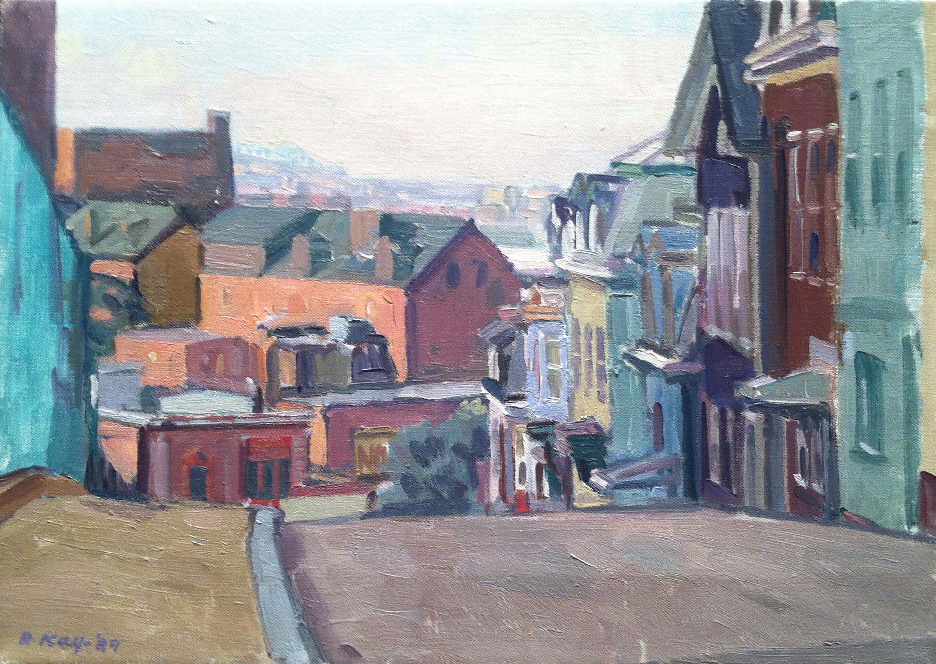 View From the Hill,  1989 oil on canvas, 10 x 14 inches
