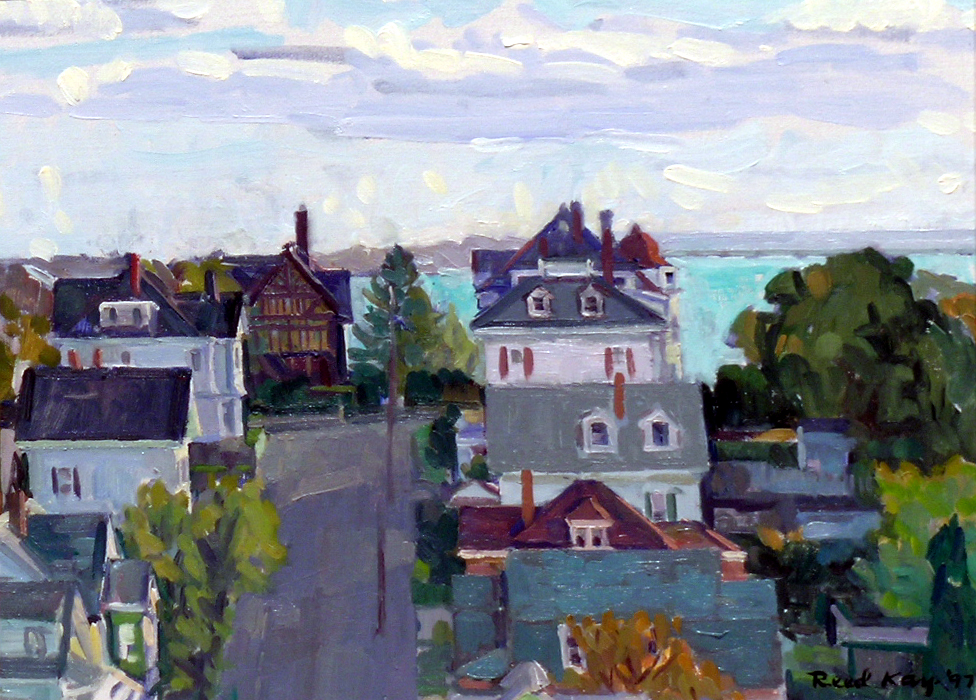 Hampden Street,  1997 oil on canvas, 12 x 16 inches
