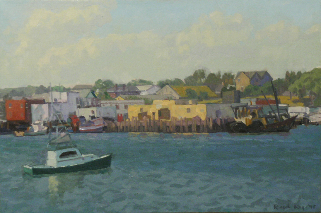 Harbor Loop,  1995 oil on canvas, 14 x 20 inches