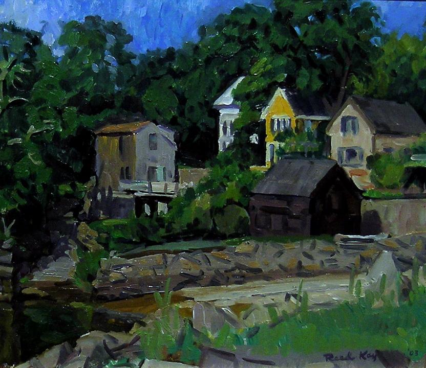 Small Beach, Cape Ann, 2003 oil on canvas, 14 x 16 inches