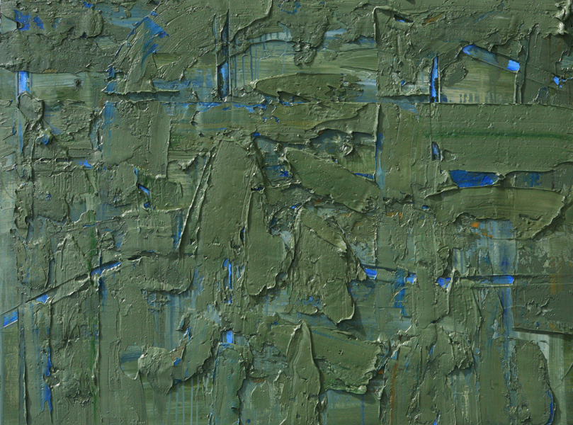 Untitled, 2010 oil and cold wax on canvas, 36 x 48 inches