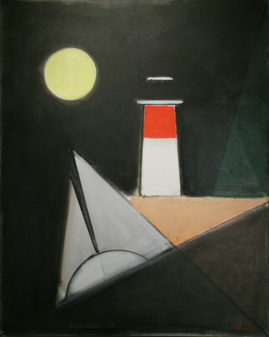 Silver Sails , 2009 oil on canvas, 40 x 32 inches