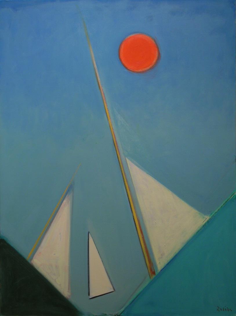 Regatta (3 Sails) , 2009-10 oil on canvas, 51 x 38 inches