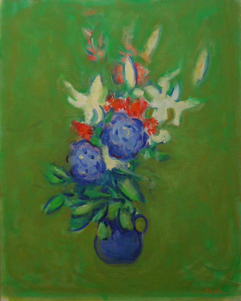 Anniversary Flowers , 2009 oil on canvas, 40 x 32 inches