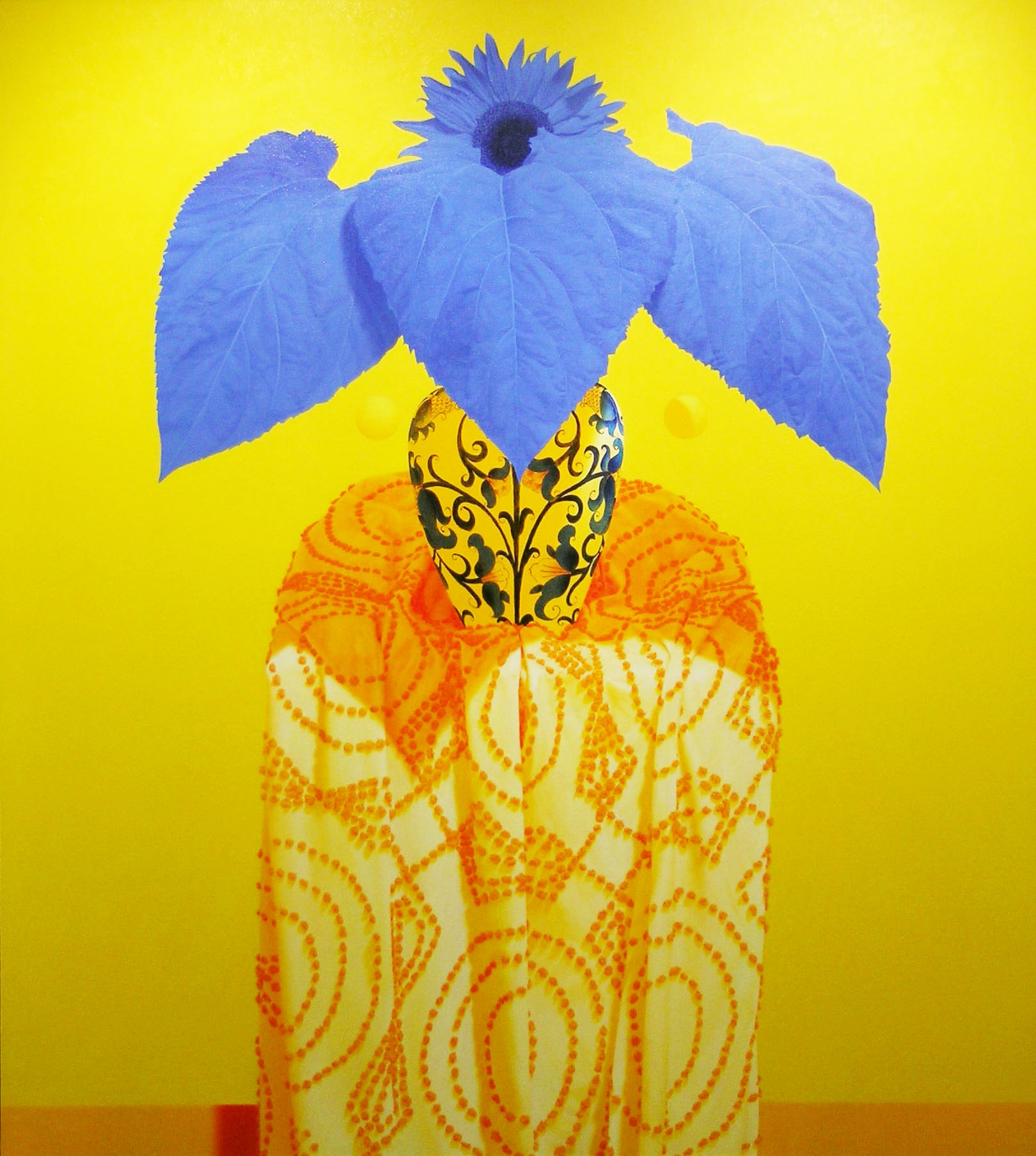 Blue Sunflower, 2005 oil on canvas, 64 x 57 inches