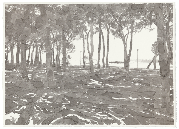 Venice 1, 2012 ink was on paper, 11 x 15 inches