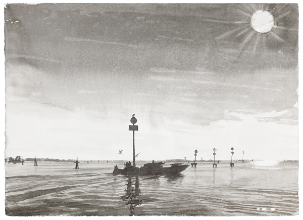 Venice 4, 2012 ink was on paper, 11 x 15 inches