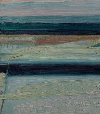 April 15th USA , 1987 oil on canvas, 10 x 9 inches