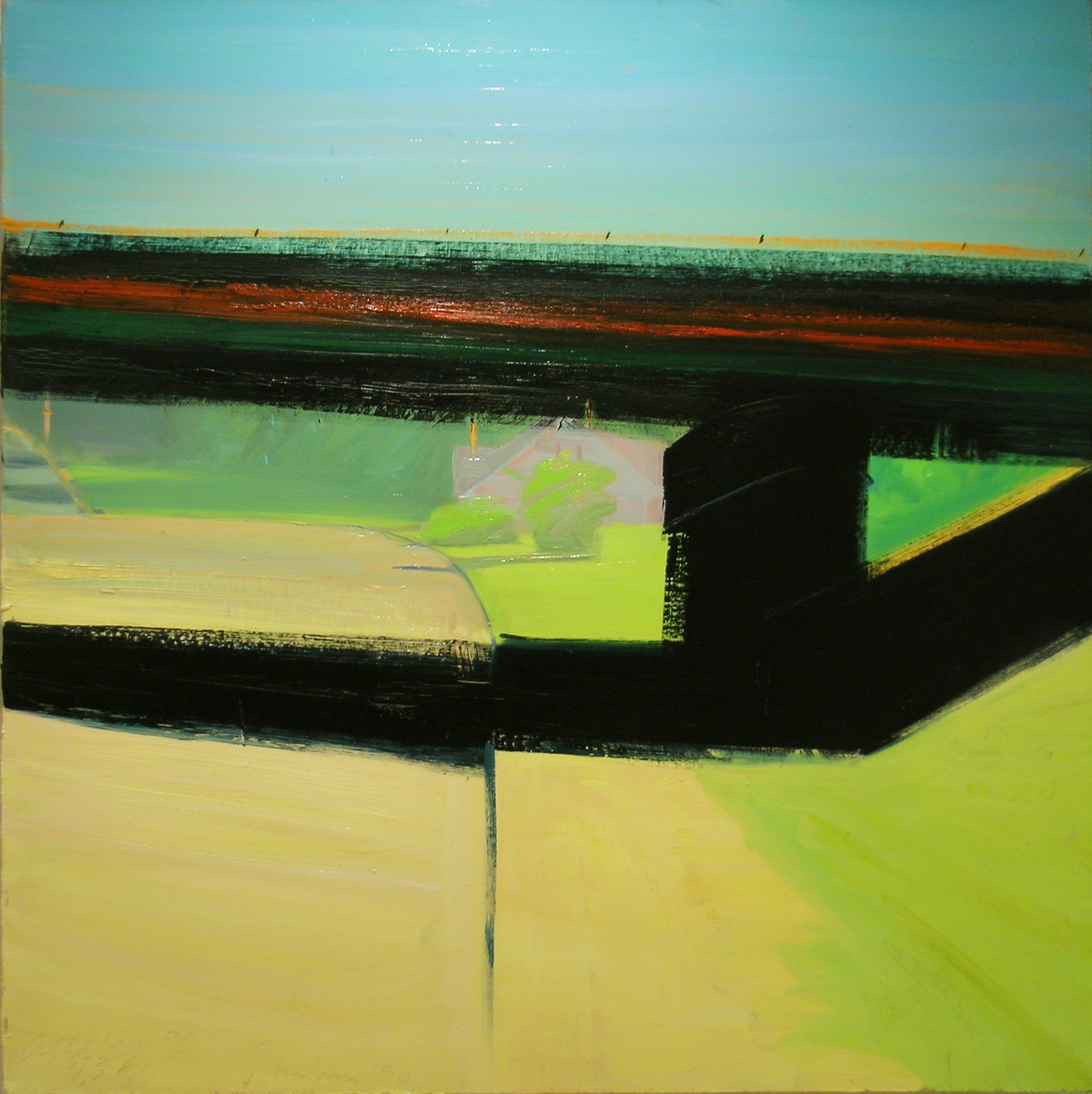 Attleboro,  1990 oil on canvas, 39 x 39 inches