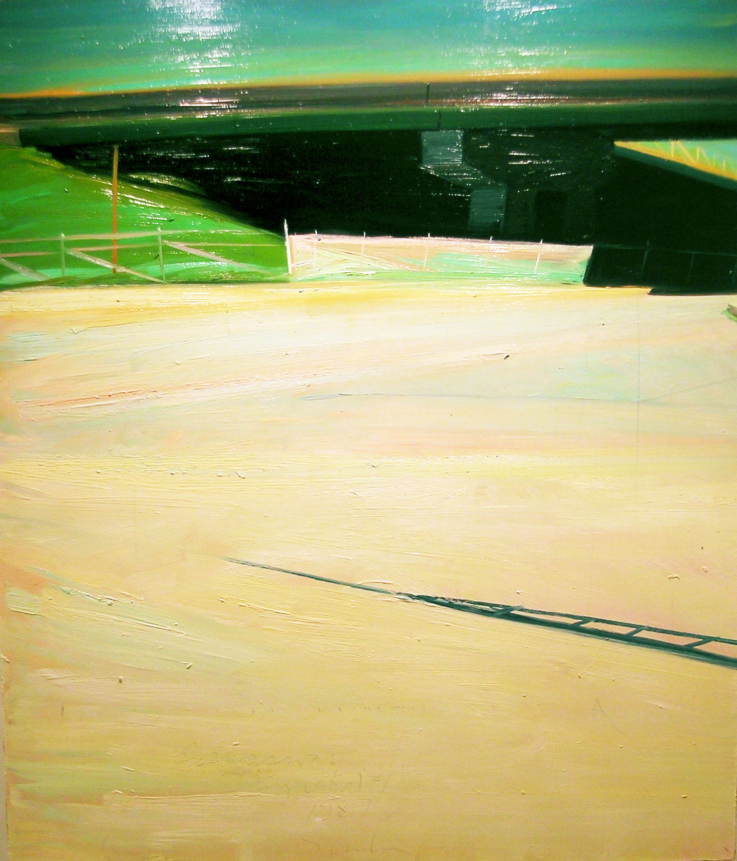 Expressway Bridge, USA #1 , 1987 oil on canvas, 54 1/4 x 46 inches