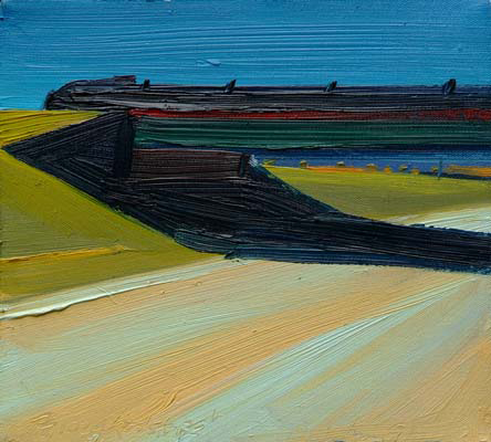 Route 102 , 1991 oil on canvas, 8 x 9 inches