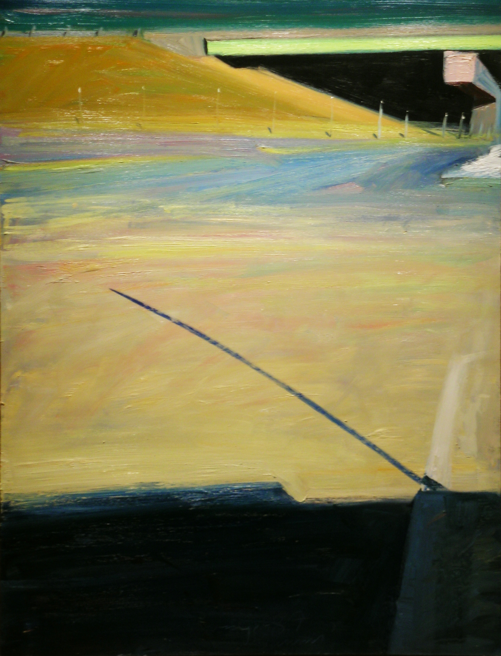 Teanan Bridge Sunny , 1987 oil on canvas, 60 x 46 inches