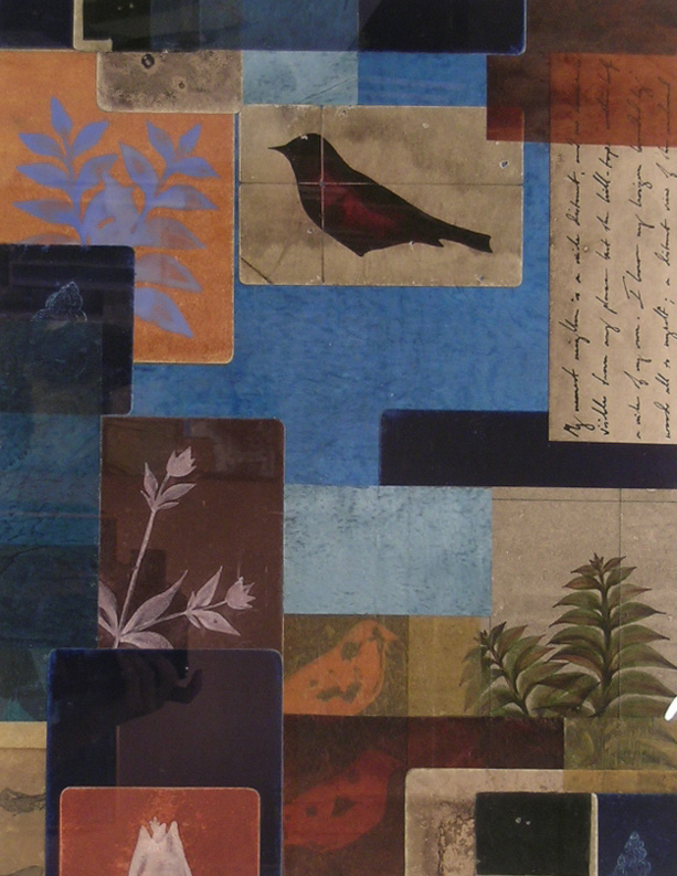 untitled (c-161) , 2000 collage with hand-painted papers on museumboard, 21 1/2 x 16 1/2 inches