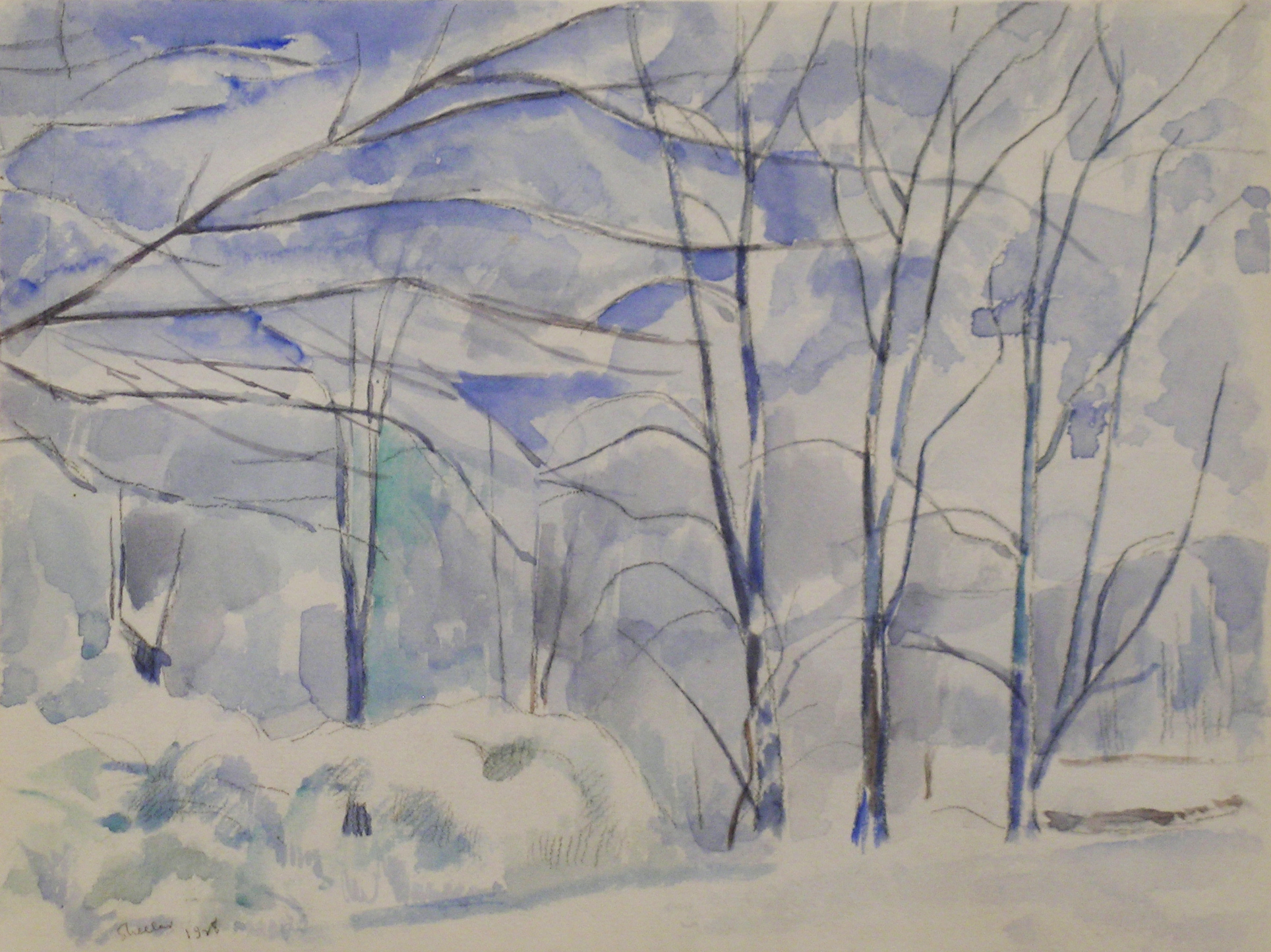 Charles Sheeler   Winter Landscape, 1928 ink & pencil on paper, 9 x 11 1/2 inches