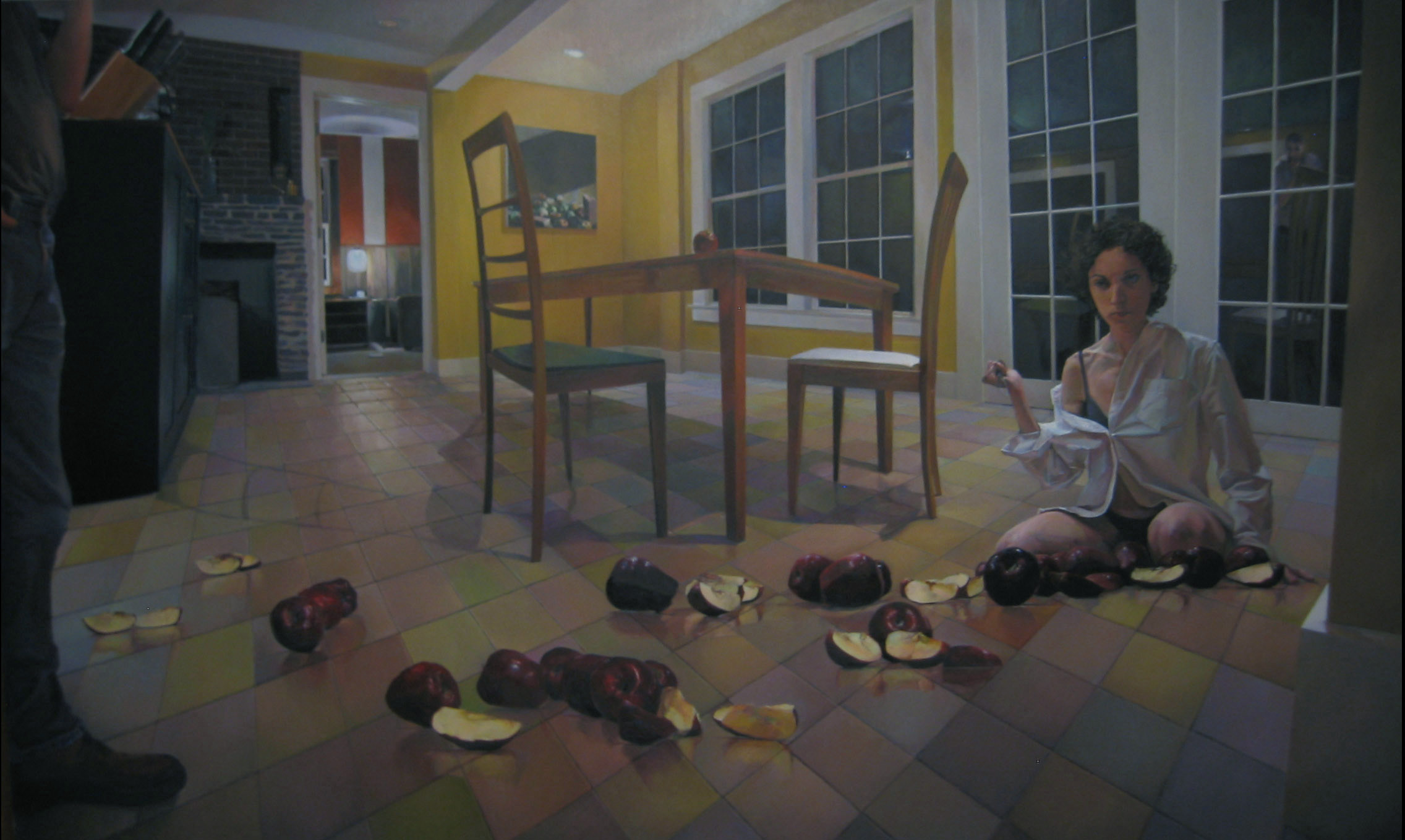 Fruit of Temptation , 2005 oil on canvas, 38 x 64 inches