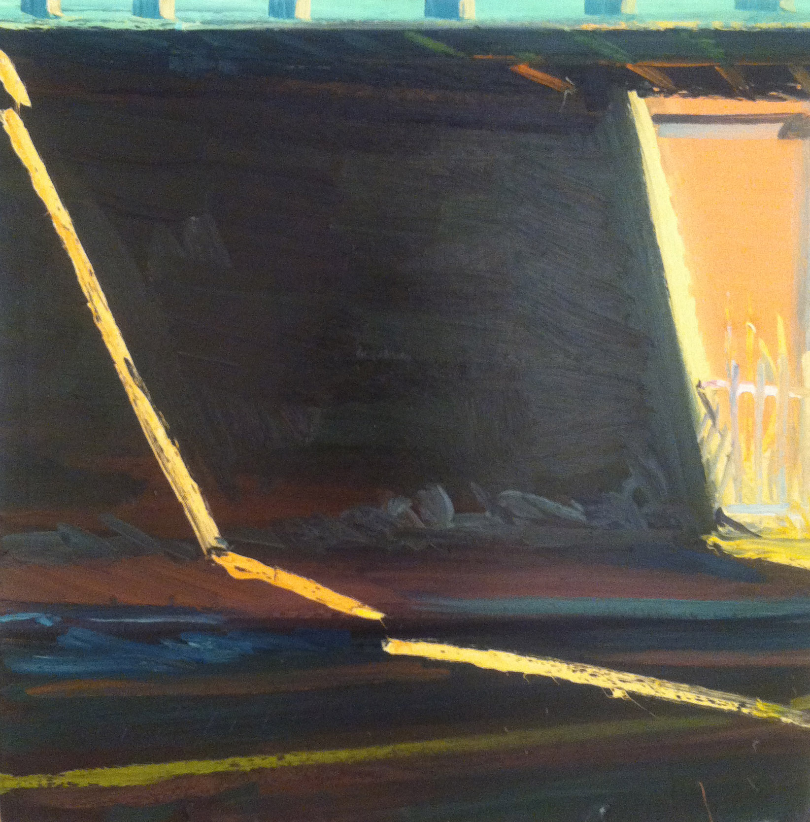 Freeport Light #4,  1984 oil on canvas, 35 3/4 x 36 inches