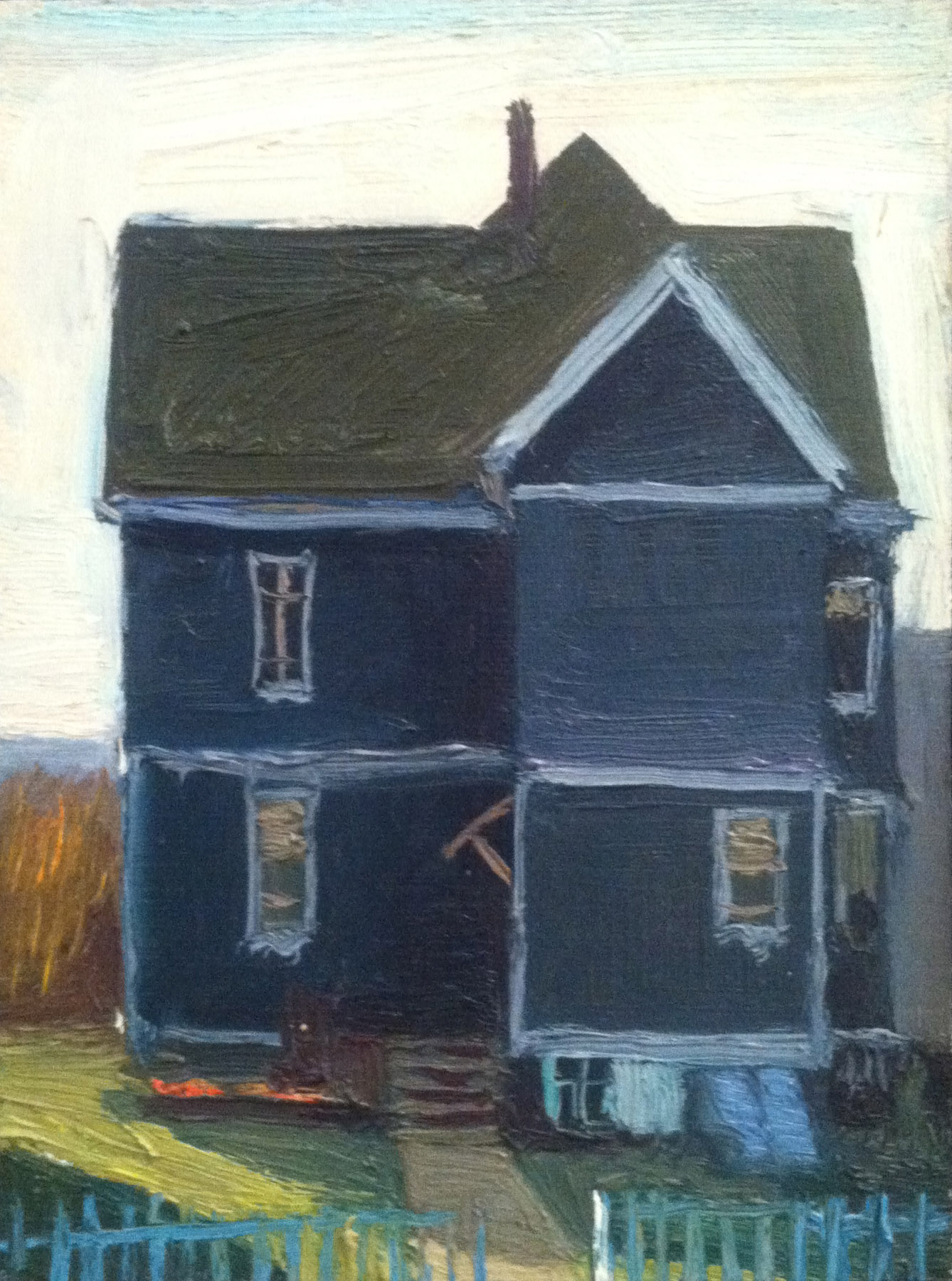 Grey House,  1979 oil on canvas, 8 x 6 inches