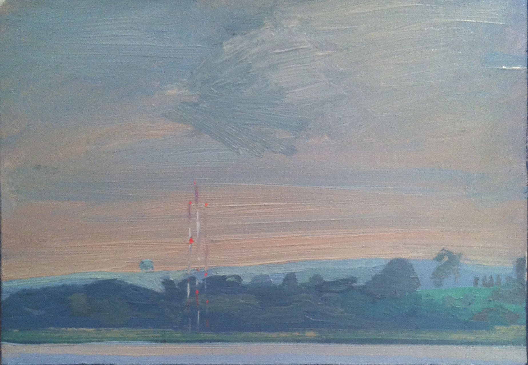 Milton Landscape,  1980 oil on canvas, 10 x 14 inches