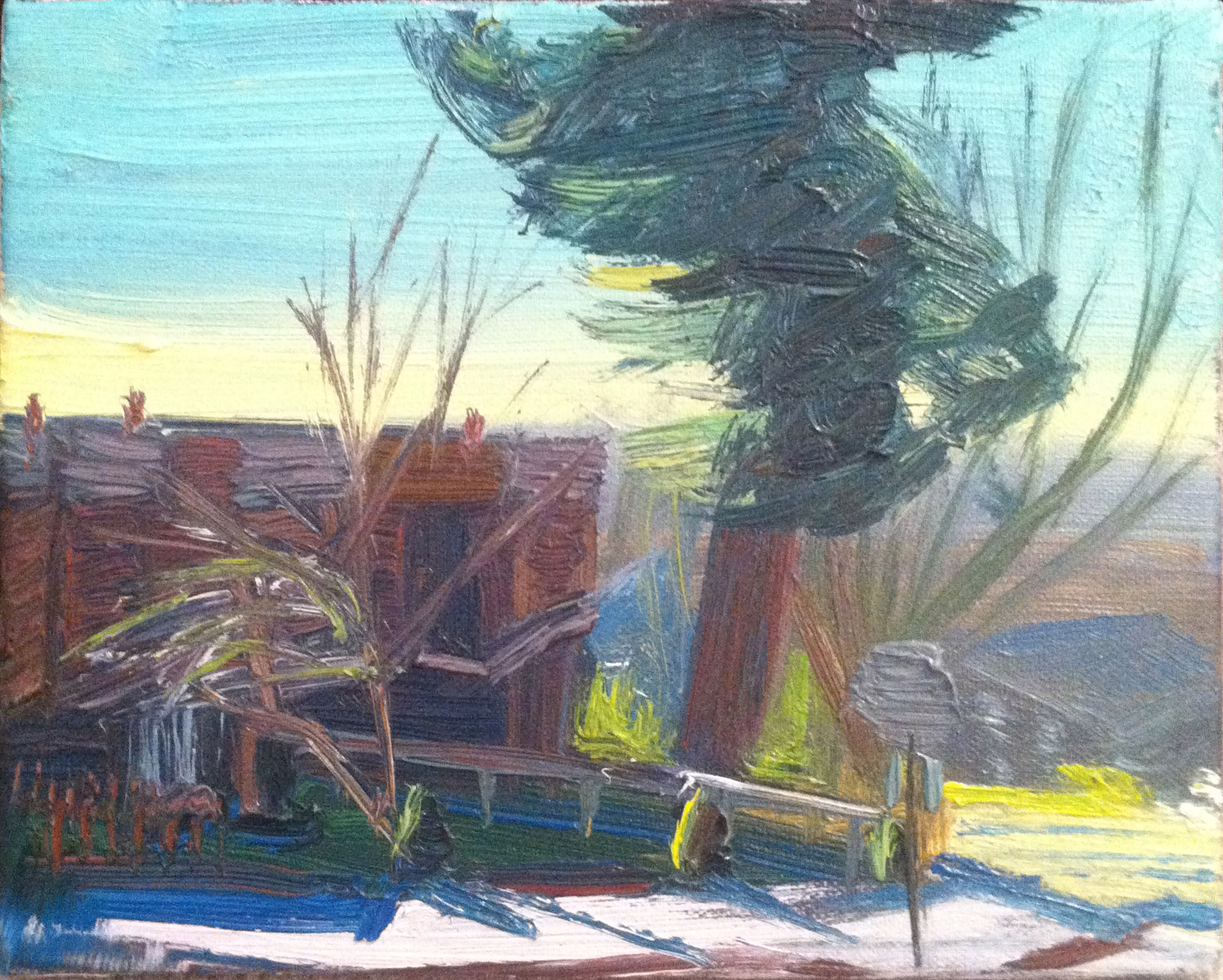 untitled (Land),  2005 oil on canvas, 8 x 10 inches