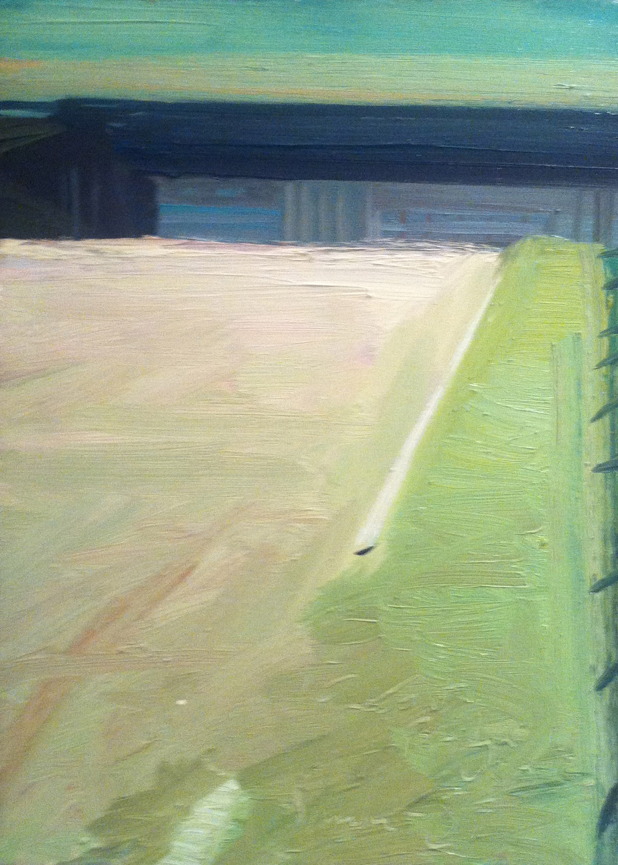 Freeport Bridge, USA,  1989 oil on canvas, 22 x 16 inches