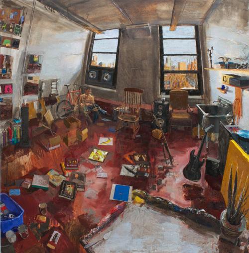 Freddie LeFage as Gabriel, 2013 oil on canvas, 55 x 57 inches