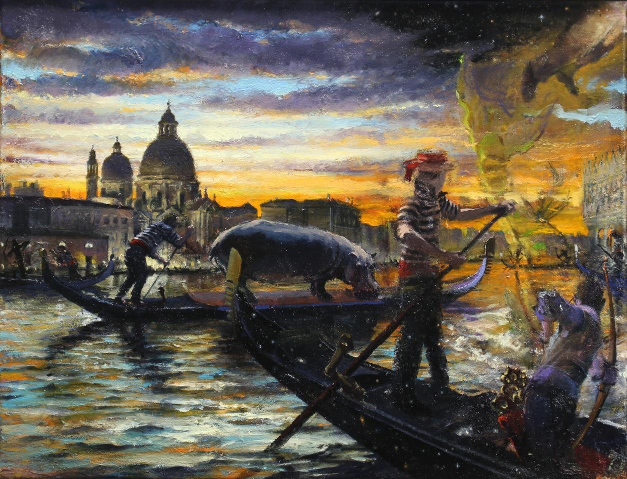 Lagoon Fantasia, 2015 oil on canvas, 14 x 18 inches