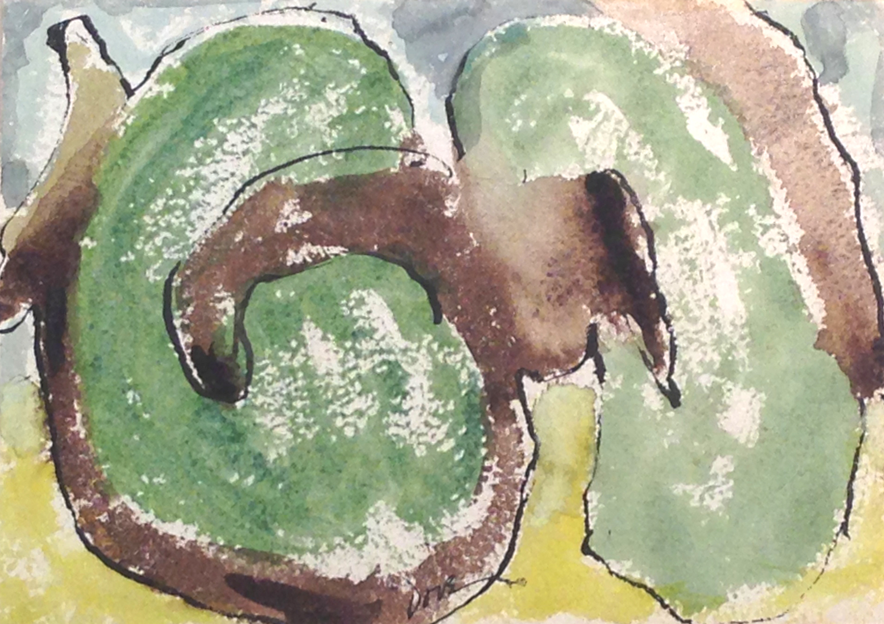 Arthur Dove  Summer Orchard,  1937 watercolor on paper, 5 x 7 inches