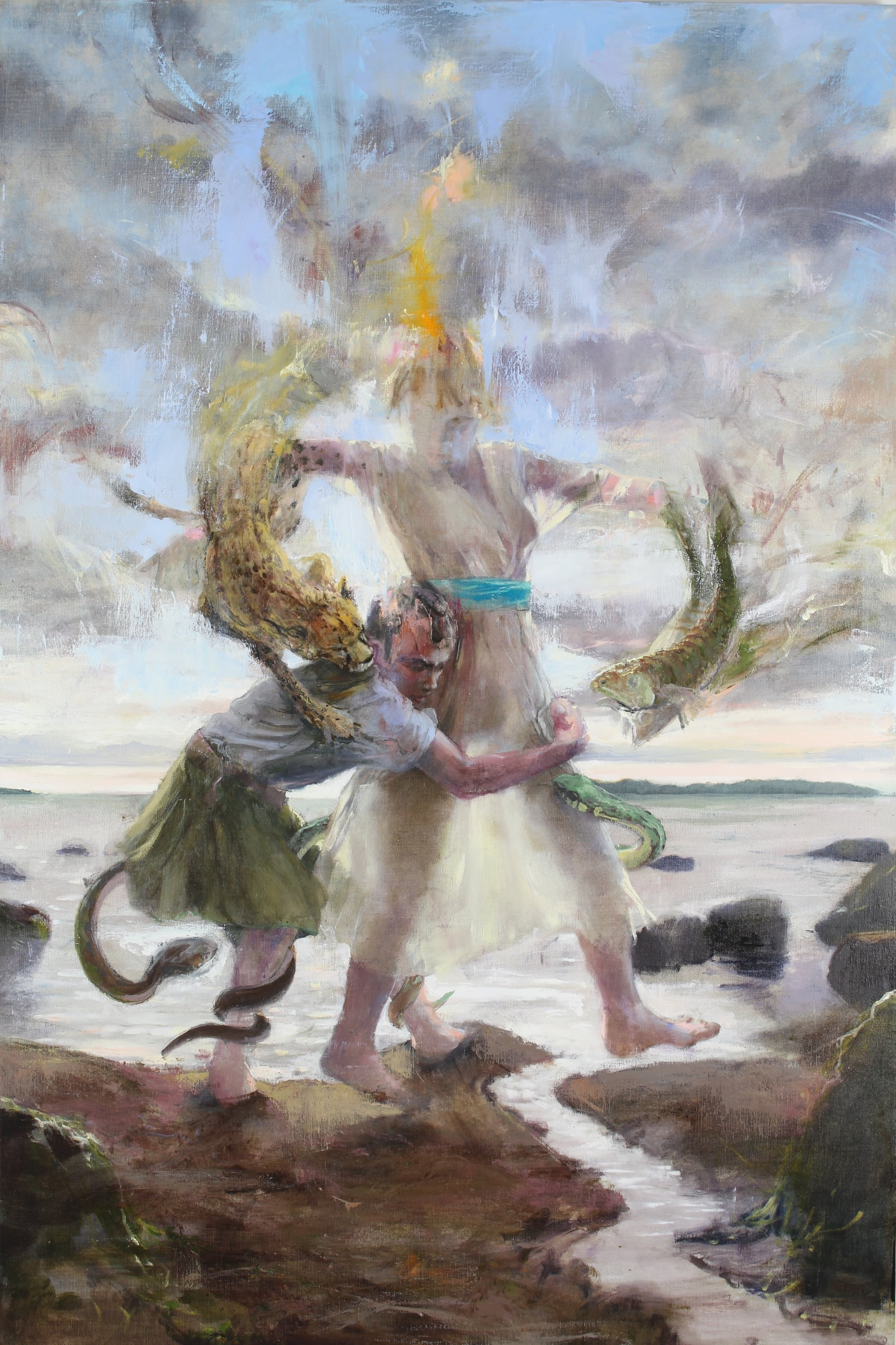 Peleus & Thetis , 2015 oil on canvas, 60 x 40 inches