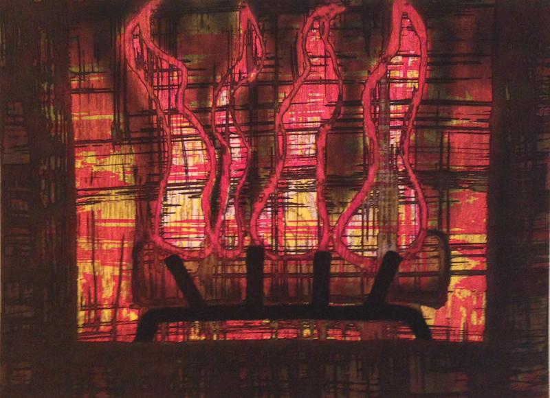 Burning Log, 1987 edition of 50