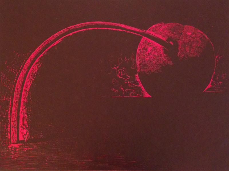 Cherry, 1983 woodcut