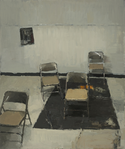 Another Meeting , 2015 oil on canvas, 48 x 40 inches