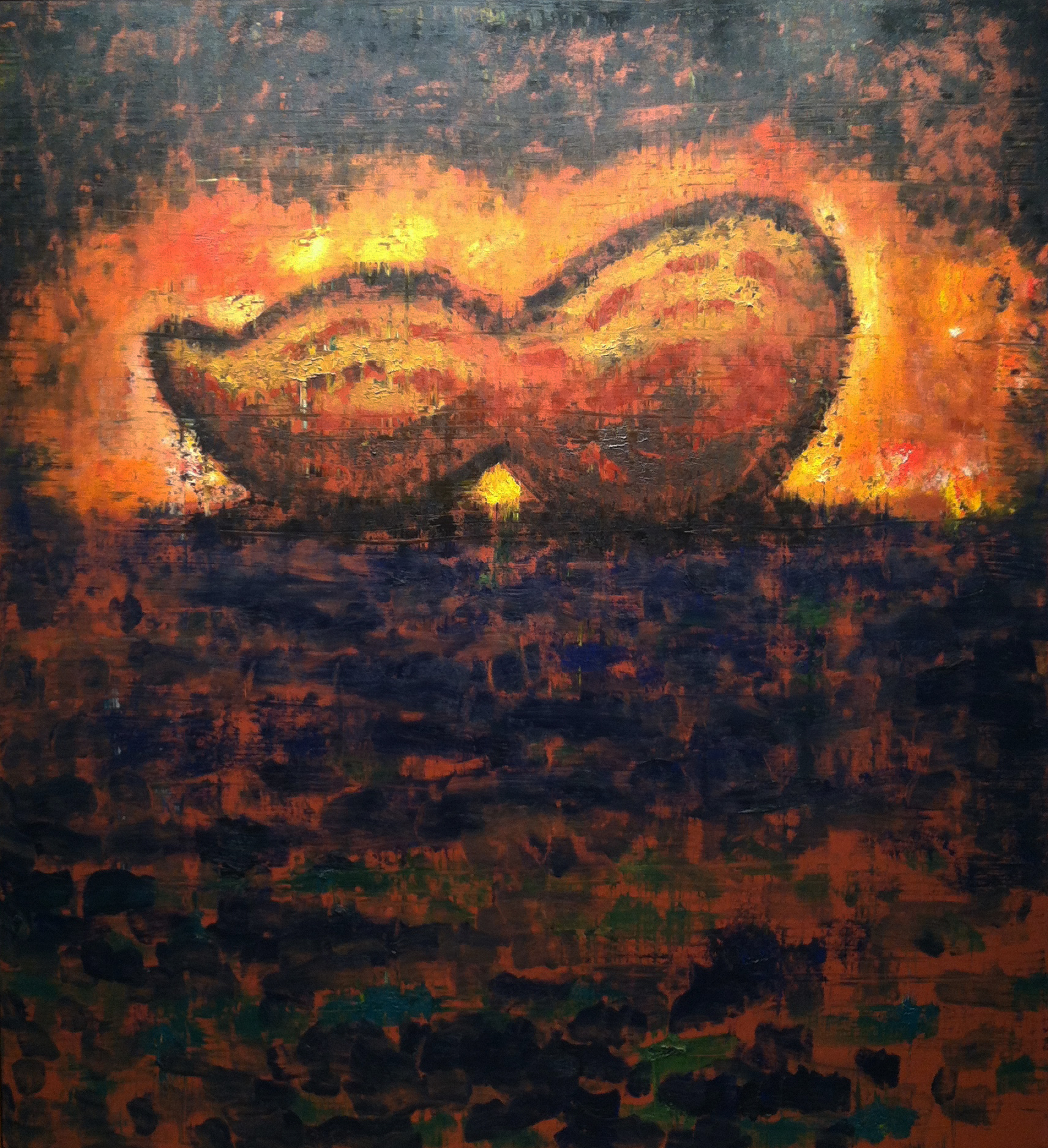 Peanut , 1984-85 oil on canvas, 72 x 66 inches