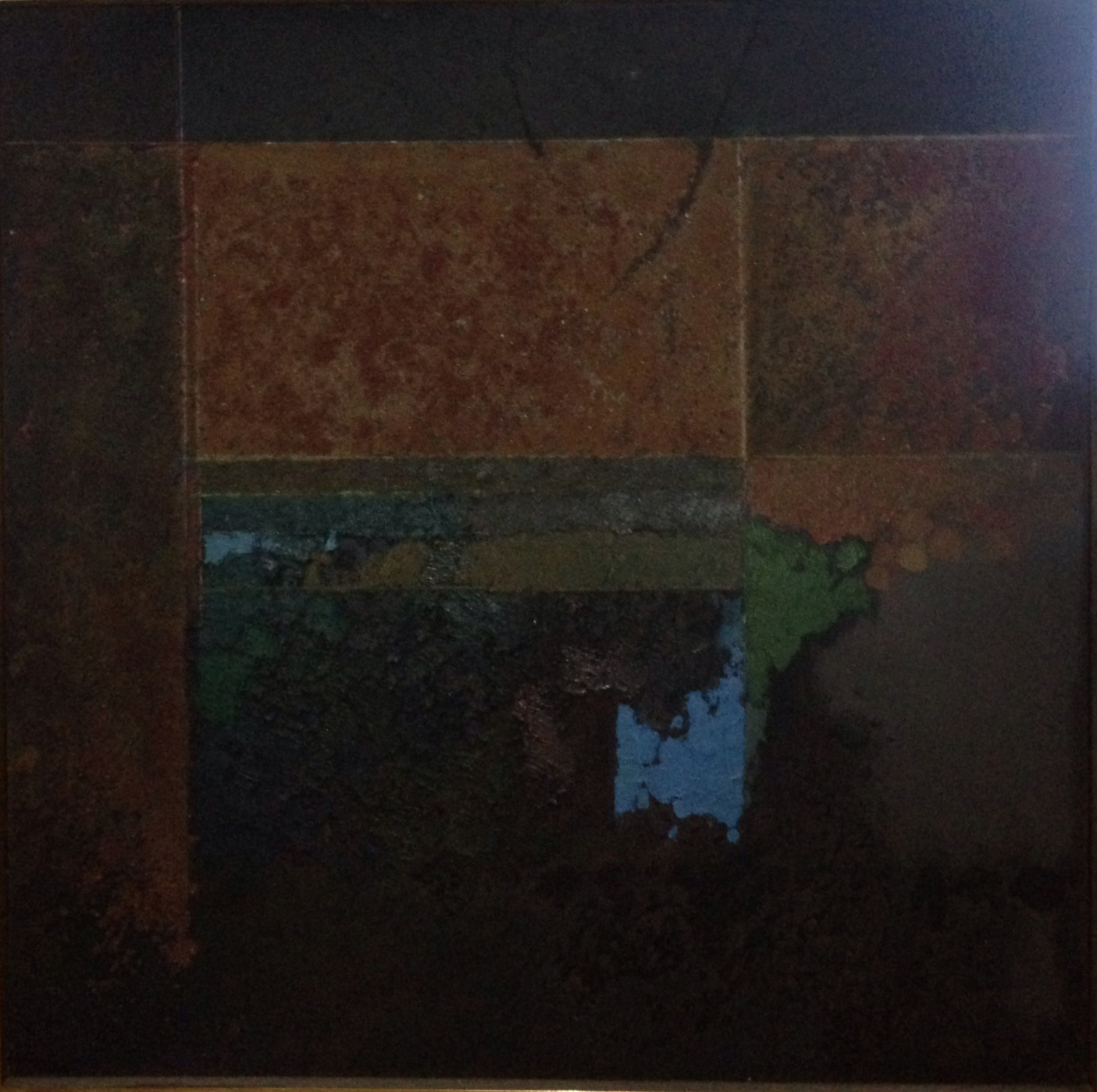 Hesitant Ode , 1962 oil & sand on canvas, 60 x 60 inches
