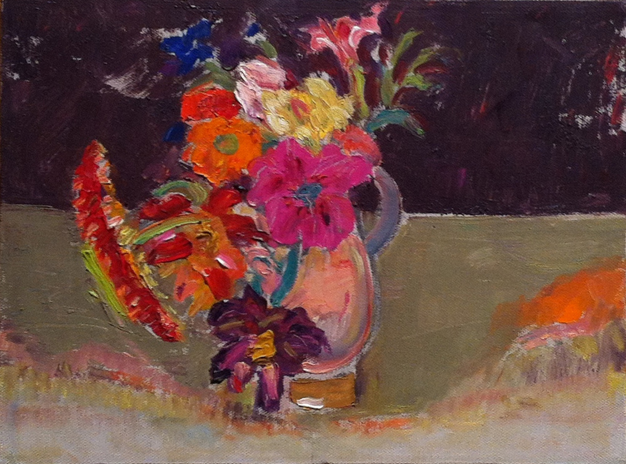Flowers for N.,  1998 oil on canvas, 9 x 12 inches