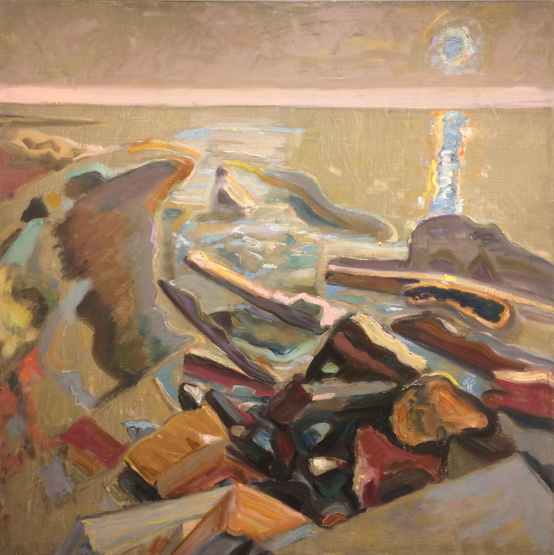 Pink Horizon,  1989 oil on canvas, 40 x 40 inches