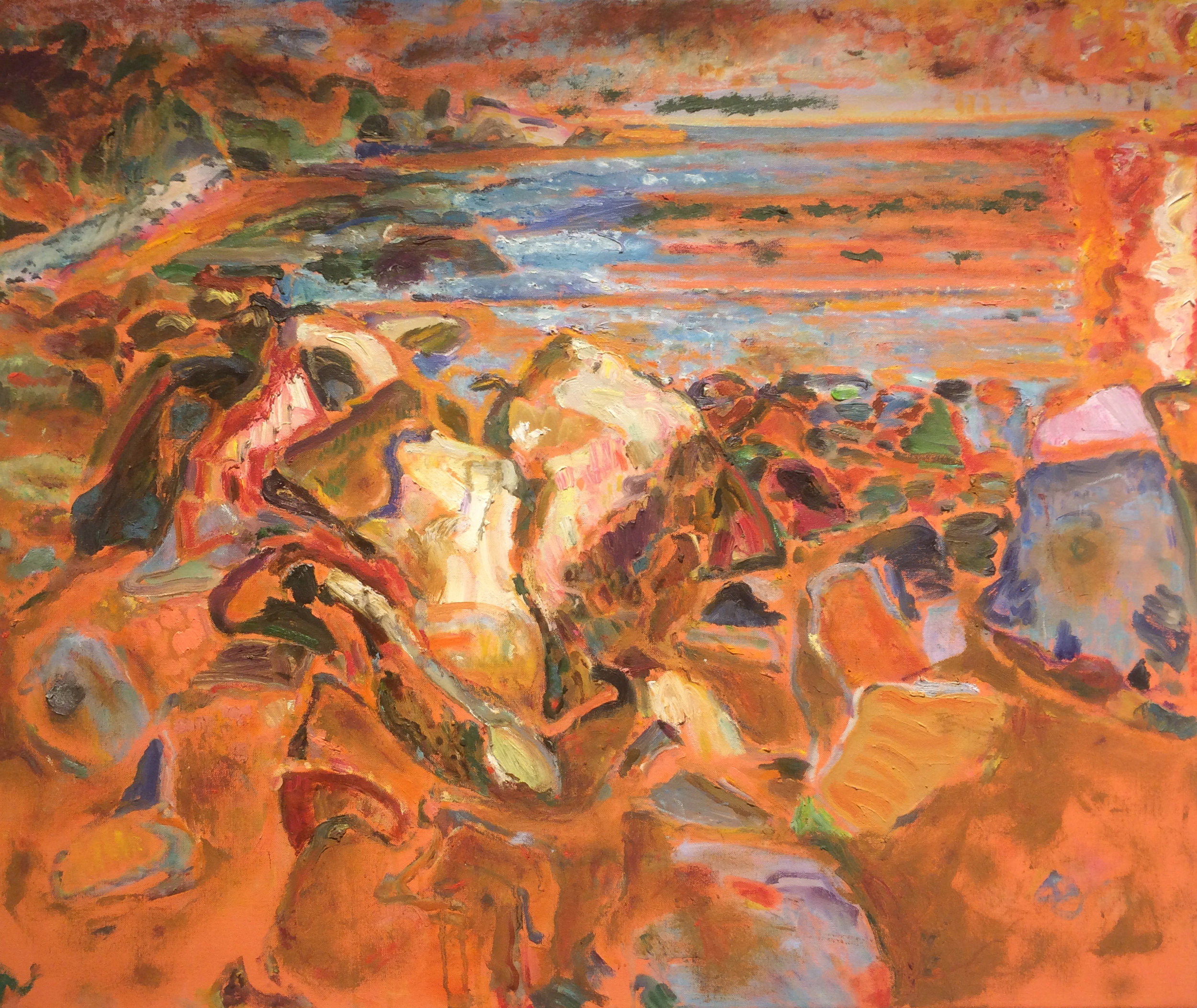 Orange Light,  2006 oil on canvas, 30 x 36 inches