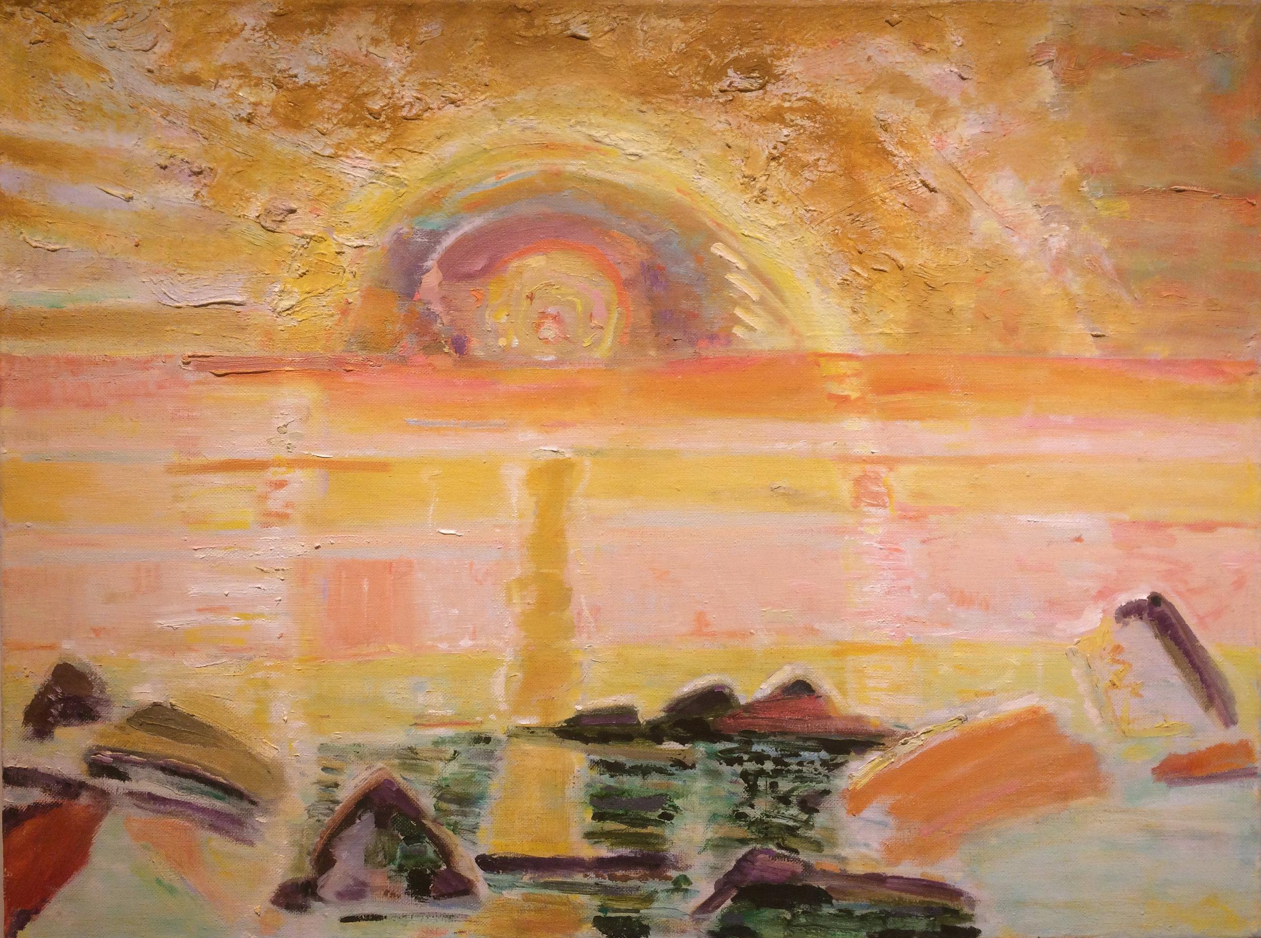 Sun, 1997-98 oil on canvas, 30 x 40 inches