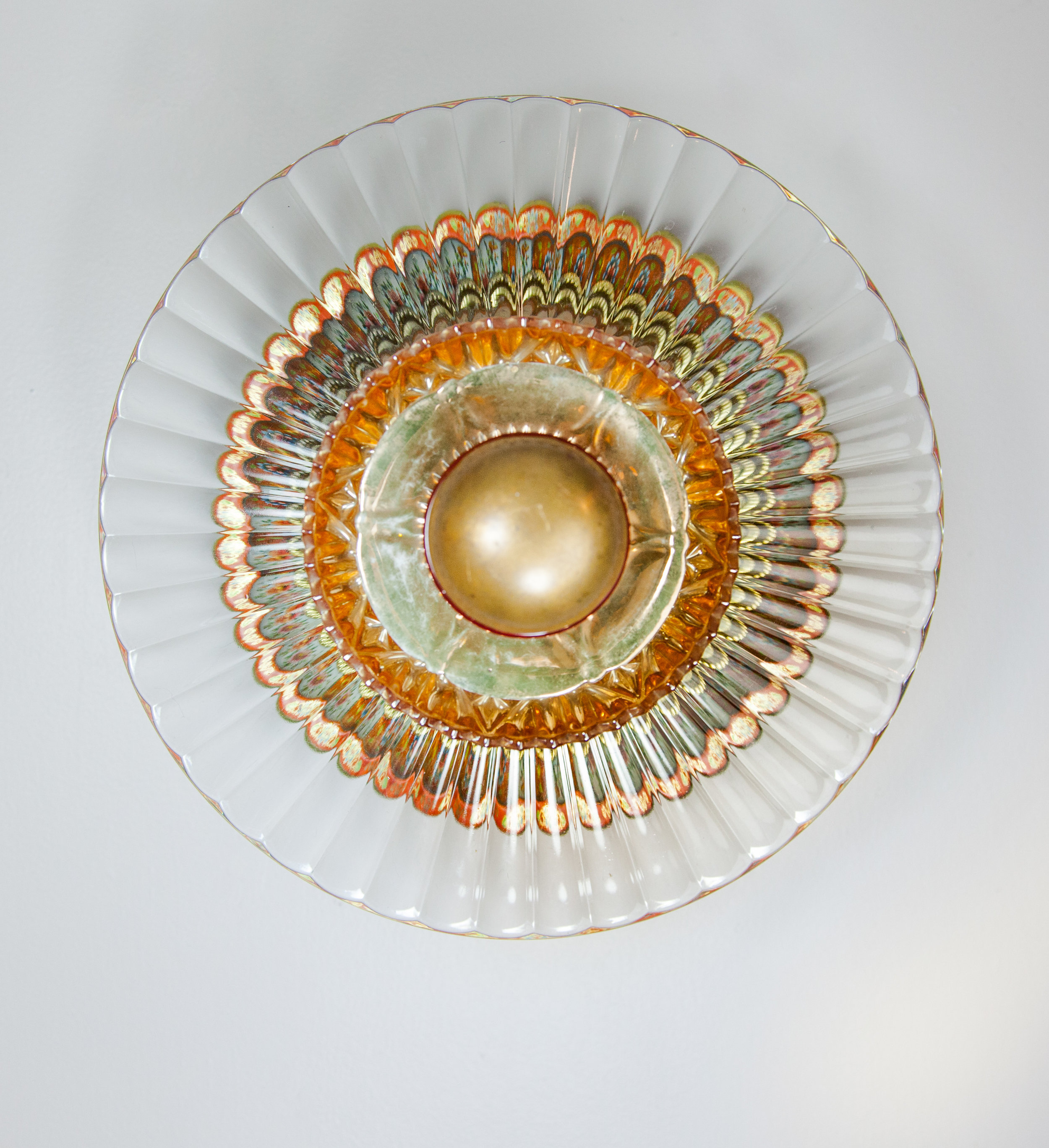 Occhi, 2017 domestic objects, doorknob, steel, 12 x 12 x 11 1/4 inches