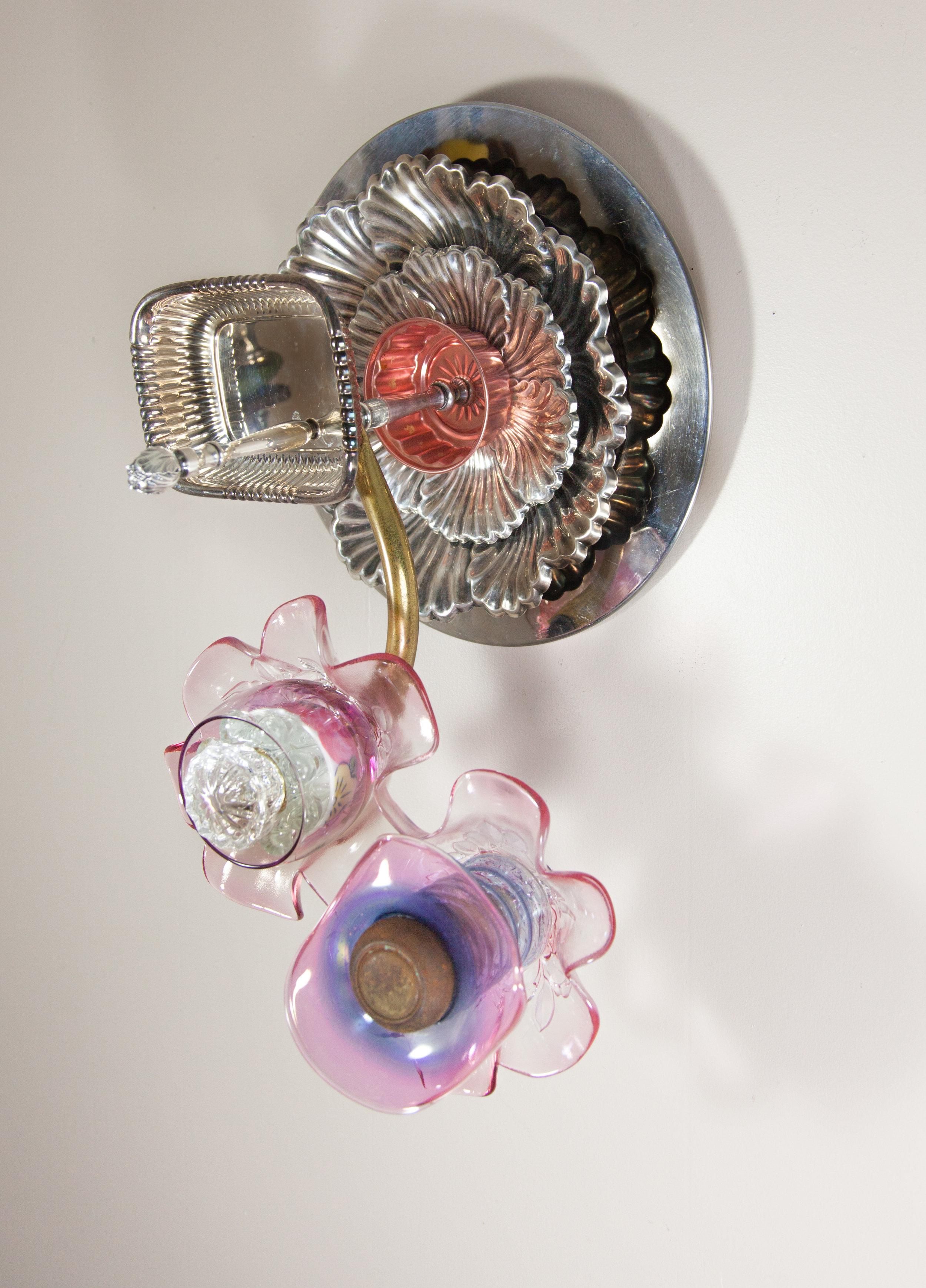 Occhi, 2017 domestic objects, doorknob, steel,11 x 20 x 9 1/4 inches