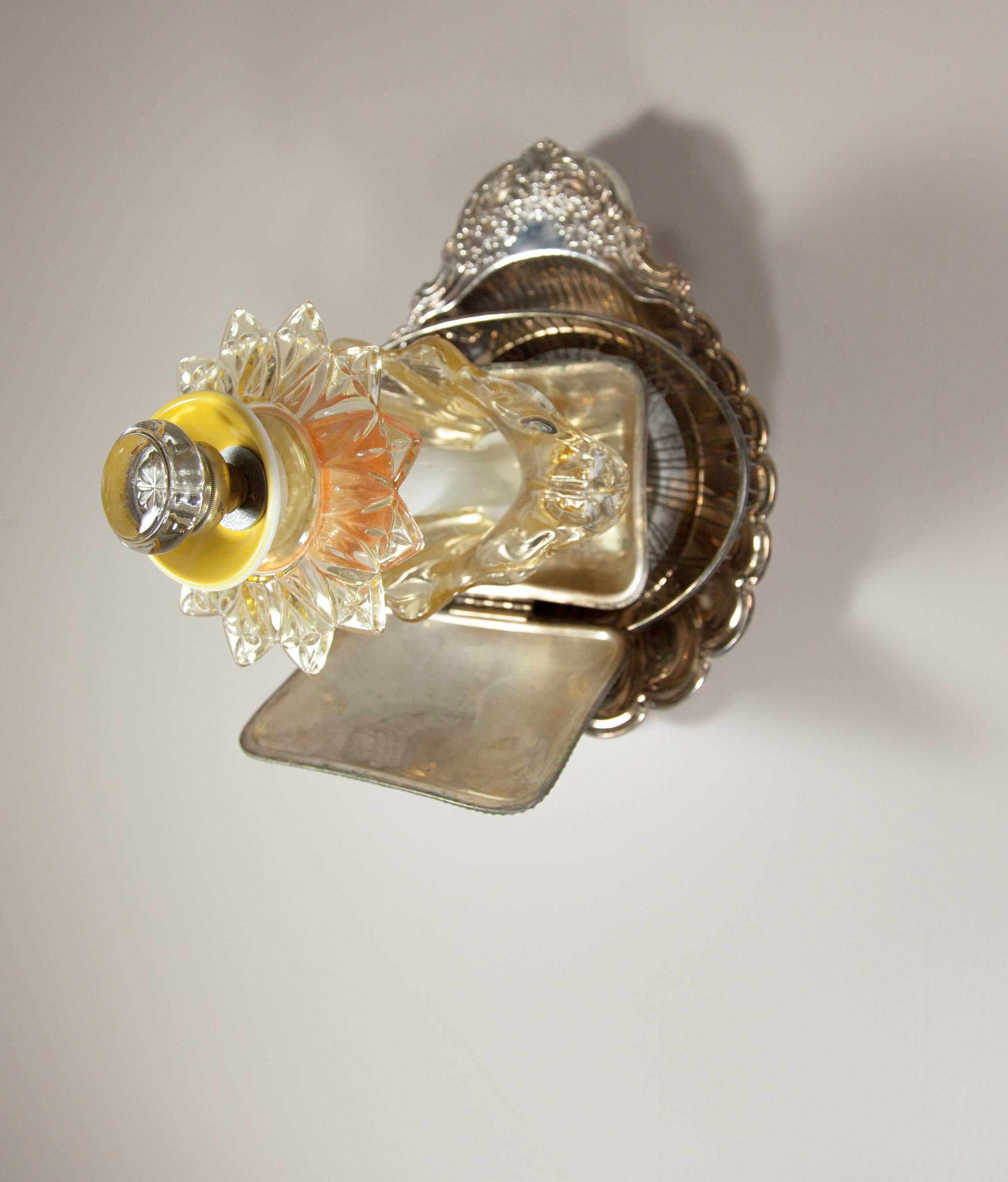 Occhi, 2017 domestic objects, doorknob, steel,12 x 14 x 13 3/4 inches