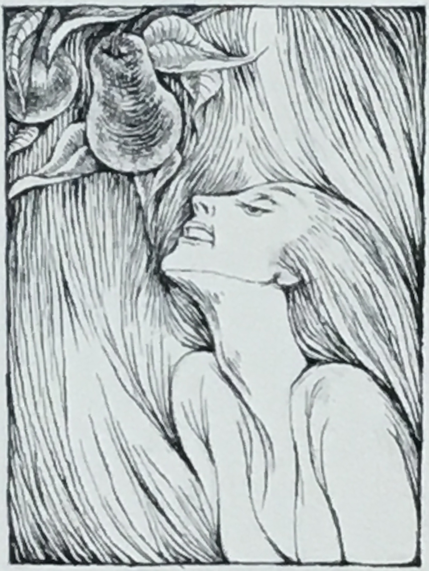 The Maiden Without Hands, 1970-71 ink on paper, 15 1/8 x 12 1/8 inches